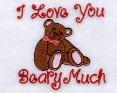 I Love You Beary Much - 4x4 | What's New | Machine Embroidery Designs | SWAKembroidery.com Starbird Stock Designs