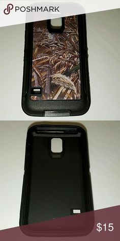 Galaxy s5 defender style Phone case Camo and black heavy duty 3 in 1 phone case for Samsung Galaxy s5. Water and shock resistant. Comes with built in screen protector and belt clip holster that doubles as a phone stand. Accessories Phone Cases