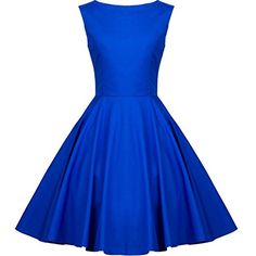 Heroecol 50s Hepburn Style Vintage Retro Swing Dress Size XL Color Blue Heroecol http://www.amazon.com/dp/B00QU3YWNC/ref=cm_sw_r_pi_dp_Ls8cwb070KS2H