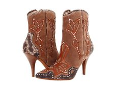 Outrageous, embellished Donald J Pliner boots. #western #shoelove #zappos