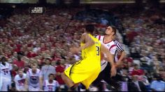 GIF: Trey Burke Block On Siva Called Foul   : Probably the WORST call made by the refs in NCAA tourney game #MarchMadness