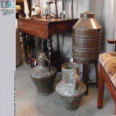 PEÇAS em COBRE muito antigas..... peças com grandes potencialidades decorativas....... QUAL A SUA OPINIÃO sobre estas nossas peças? (disponíveis) https://www.facebook.com/objecta.segunda.mao/