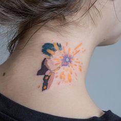 Howl's Moving Castle - Svetlana Ehrt media photos videos Mini Tattoos, Body Art Tattoos, Small Tattoos, Sleeve Tattoos, Cool Tattoos, Tatuaje Studio Ghibli, Studio Ghibli Tattoo, Tatoo Manga, Howl's Moving Castle Tattoo