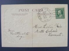 North Calais Vermont Co 1910 Type 2/2 Doane Cancel DPO 1879-1954 Postcard