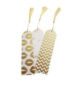 Polka dot bookmarks chevron bookmarks kiss bookmarks bees | Etsy