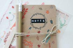 Jolie idée pour décorer des carnets- avecses10ptitsdoigts