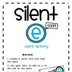 Whatever you call it... silent e, mommy e, bossy e... this station will help your students practice the skill of adding an e to the end of words to...