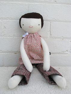 Softie doll.  Looks like it might be by Hop Skip Jump