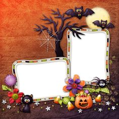 "Photo from album ""Little Tricksters"" on Yandex. Halloween Borders, Halloween Frames, Halloween Poster, Halloween Clipart, Halloween Cards, Marcos Halloween, Halloween 2014, Halloween Party Decor, Happy Halloween"