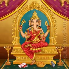 "The fourth day after a new moon is called Vinayaki Chaturi. Even though this day is sacred to Ganesha, it is named after Vinayaki. In Buddhist traditions, She is an independent Goddess and is called Ganapatihrdaya, which means ""heart of Ganesh"". Kali Goddess, Indian Goddess, Mother Goddess, Ganesha Pictures, Ganesh Images, Lord Ganesha Paintings, Lord Shiva Family, Buddhist Traditions, Lord Murugan"
