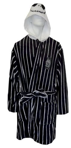 Amazon.com: Nightmare Before Christmas Jack Skellington Plush Robe: Clothing