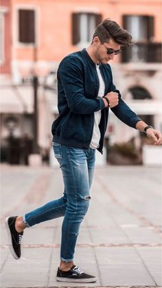 58 Stylish Business Casual Outfit for Men in Fall - Beautifus Stylish Men, Men Casual, Casual Styles, Casual Winter, Outfit Stile, Herren Outfit, Komplette Outfits, Easy Outfits, Fresh Outfits