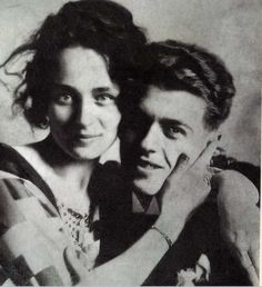 Georgette and René Magritte on their wedding day, June 22, 1922