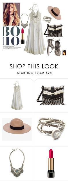 """""""Boho Mod"""" by gaya-vas ❤ liked on Polyvore featuring Calypso St. Barth, Nine West, Anine Bing, Johnny Loves June, Mixit and Lancôme"""