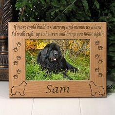 Newfoundland Memorial Dog Picture Frame