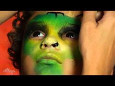 How To Do Dinosaur Face Paint for Kids - YouTube