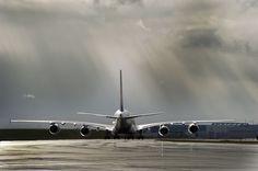a380flightdeck: Taxing to the runway.