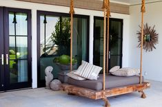hanging daybed... The ultimate in nap technology. Mollywoodgardendesign.com