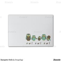 Energetic Owls Post-it® Notes