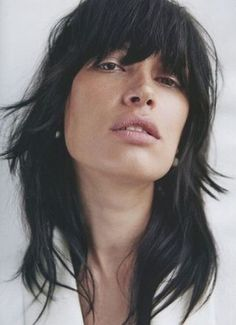 Layered Hairstyles With Bangs - Rough And Shaggy Layers And Bangs