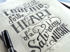 hand drawn type by alta