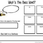 What's The Buzzword? Graphic Organizer can be used to strengthen your student's description of targeted vocabulary words.    For more information v...