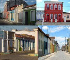 Centro Histórico de Caravelas. Formado por construções coloniais do século 19.