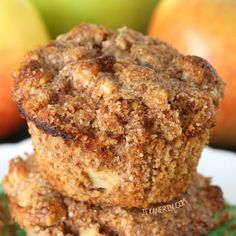 These amazingly moist apple muffins are grain-free but still have a great texture!