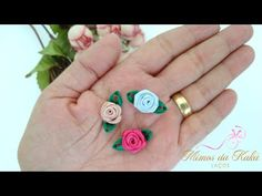 Mini Flor/Rosa de Rococó-Diy Ribbon Bow-Kaká Magalhães - YouTube