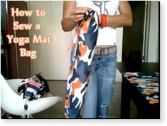 How to Sew a Yoga Mat Bag – Free Video Tutorial Wow. Maybe I'll actually sew something fo myself...