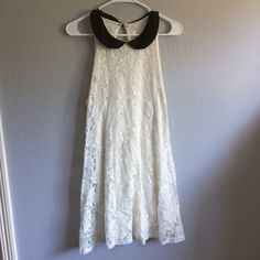 Urban Outfitters Dress Super cute lace dress! It's white/cream with a black collar. Pins & Needles Dresses