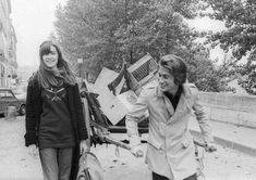 Françoise Hardy & Jacques Dutronc photographiés par Gilbert Moreau en 1970