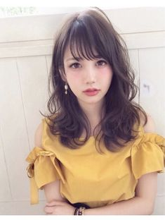 Short Loose Curly Hair Styles 55 Ideas For 2020 Loose Curly Hair, Curly Hair Styles, Medium Hair Styles, Kawaii Hairstyles, Hairstyles With Bangs, Hair Arrange, Japanese Hairstyle, Asian Hair, Shoulder Length Hair