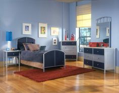Hillsdale Universal Bed - Full, Rails, Nightstand, Dresser, and Mirror Furniture, Home N Decor, Universal Bed, Hillsdale Furniture, 5 Piece Bedroom Set, Full Size Bed Sets, Home Decor, Youth Bedroom, Kids Bedroom Sets