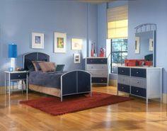 Hillsdale Universal Bed - Full, Rails, Nightstand, Dresser, and Mirror 5 Piece Bedroom Set, Kids Bedroom Sets, Bedroom Ideas, Furniture Decor, Furniture Sets, Furniture Design, Dream Furniture, Kids Furniture, Bedroom Furniture