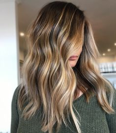 Ombre Hair Long Bob, Brown Ombre Hair, Brown Blonde Hair, Ombre Hair Color, Cool Hair Color, Wavy Hair, Dark Blonde, Brunette Hair, Red Hair