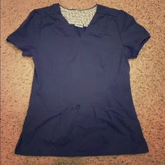 Landau scrub top Very cute navy scrub top, fitted, in excellent condition. Landau Tops