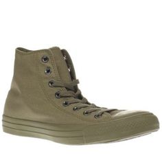 Converse Khaki All Star Hi Mens Trainers Khaki might be a new colourway for you but when it comes to the Converse All Star Hi, theres no fear in trying something new. The legendary hi-top features a fabric upper joined with tonal patch brand http://www.MightGet.com/january-2017-13/converse-khaki-all-star-hi-mens-trainers.asp