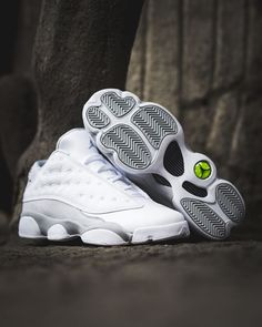 Air Jordan 13 Low Pure PlatinumThis may will be a Pure Platinum day for Jordan Brand with the release Jordan Shoes Girls, Air Jordan Shoes, Girls Shoes, Jordan Outfits, Nike Air Force 1, Nike Air Max, Zapatillas Jordan Retro, Sneakers Fashion, Shoes Sneakers