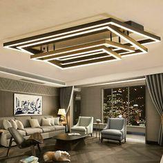 Rectangle Ceiling Lamp Fixture Adjustment Angle Bedroom Dimmer LED Ceiling Light  | eBay Dimmer Led, Angles, Bulb, Lighting, Table, Furniture, Ebay, Home Decor, Light Fixtures