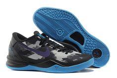 the latest 19cb2 c924e Nike Zoom Kobe VIII Männer Schuhe Schwarz Lila Blau Kobe Bryant Basketball  Shoes, Kobe Bryant