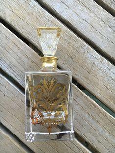 Amazing Vintage Perfume Bottle, Gold Perfume Bottle, Perfume Bottle, Perfume Bottles