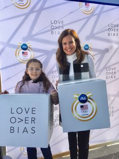 Talking about love over bias and our excitement for the 2018 Winter Olympics with P&G. How I am teaching my daughter to dream big. MomTrends.com #loveoverbias #winterolympics #dreambig (sp)