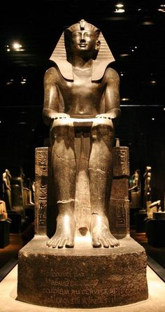 statue of King Thutmosi III (ca. 1479–1425 BCE) enthroned. Now in the Egyptian Museum of Torino