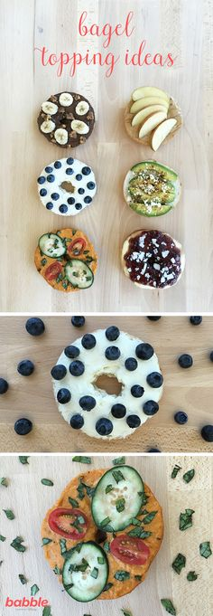 6 Delicious Ways to Upgrade Your Bagels Mason Jar Lunch, Bagel Toppings, Plain Bagel, Bagel Bites, Bread Bowls, Cheese Spread, Vegetarian Lunch, Healthy Snacks For Kids, Bagels