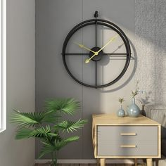 This simple and elegant clock can seamlessly blends into your room. It's minimalist design will definitely bring exquisite taste to your space. It's silent and made of metal, available in two color: gold and black. Diameter: 55cmWidth: 52cmForm: Single FaceFeature: Antique StyleDisplay Type: NeedleCombination: Separat