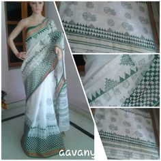 Fine cotton with lovely block prints. Sold out www.facebook.com/Aavanya