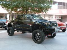 Toyota Tundra - custom lift,  all parts and accessories available at:   House of Tires  979-779-2458