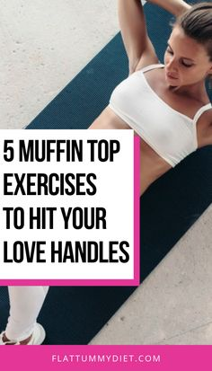 5 muffin top exercises to hit your love handles and lose all your muffin tops and get a toned tummy. These workouts are super abs and side abs focused and very effective toning effects. Toned Tummy, Toned Abs, Muffin Top Exercises, Ab Exercises, Flat Tummy Workout, Oblique Workout, Love Handle Workout, Best Abs, Weight Loss Blogs