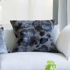 Mathura Graphite Cushion | Designers Guild